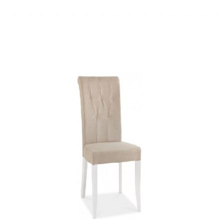 Hampstead Two Tone Upholstered Ivory Bonded  Leather Dining Chair
